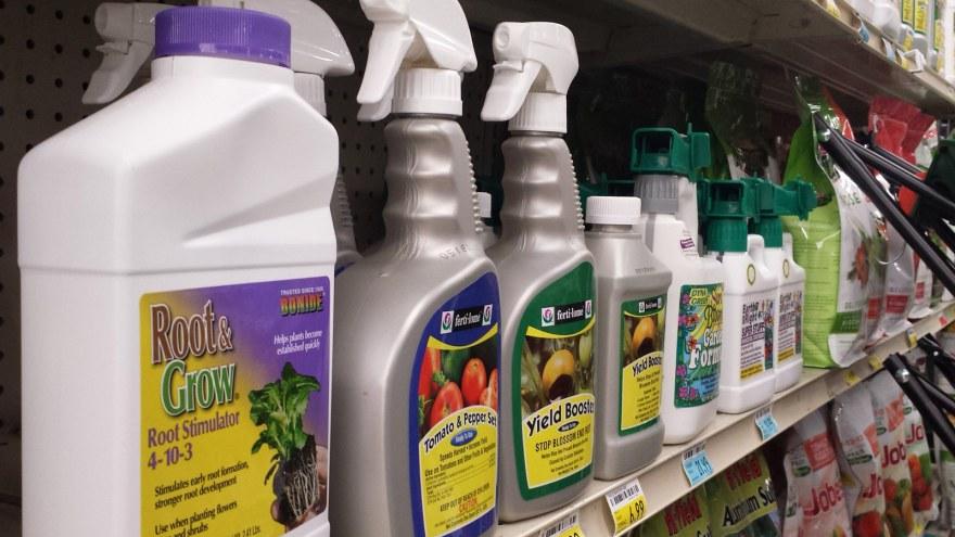 Liquid Organics Fertilizer bottles